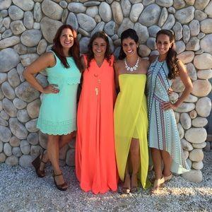 BCBG strapless yellow dress, gorgeous!